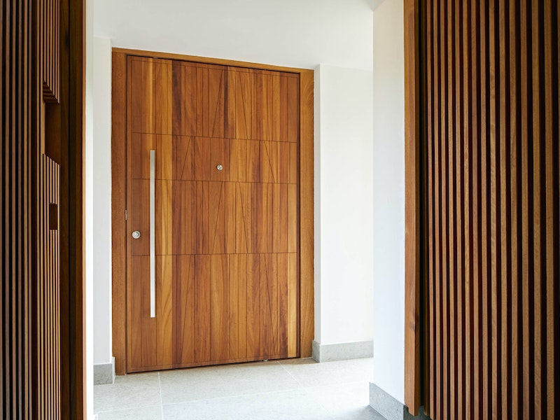 Quattro front door in iroko