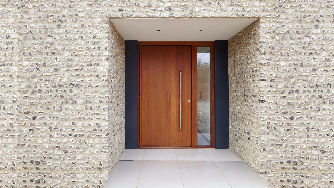 iroko wood contemporary front door Urban Front
