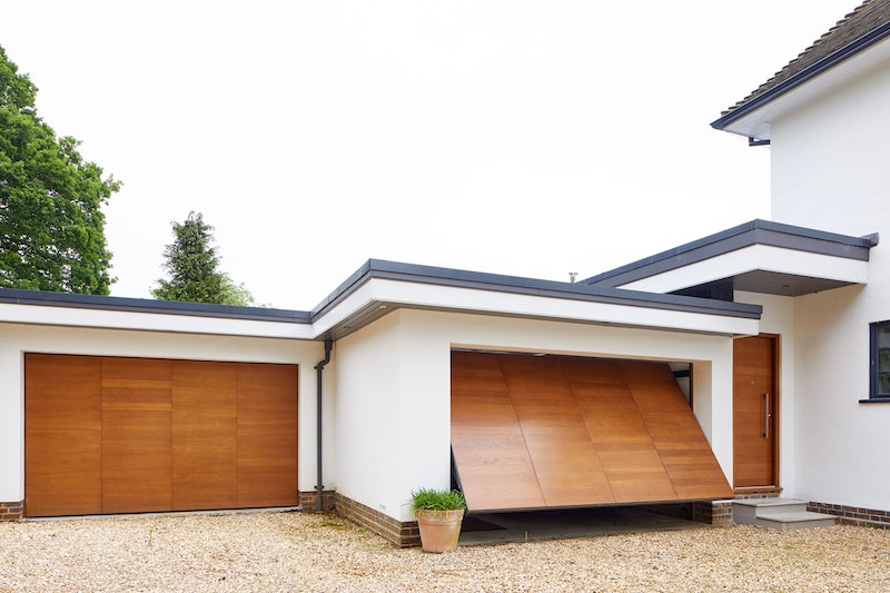 Up and over garage doors   Double facing   Urban Front