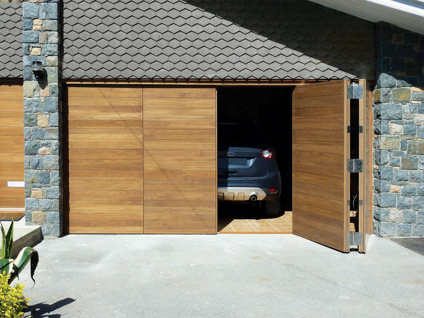 Bifold garage doors | Open view | Urban Front