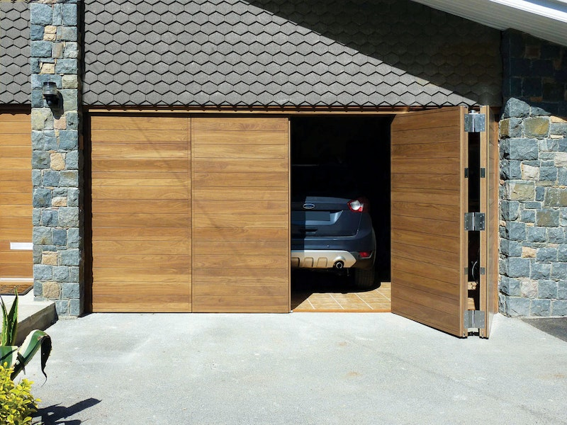 Bifold garage doors | Open view | Urban Front