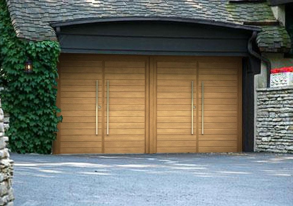 Double side hinged garage doors | Parma design