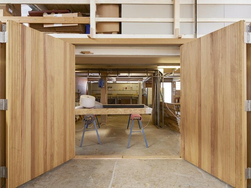Bifold garage doors   Open   Urban Front