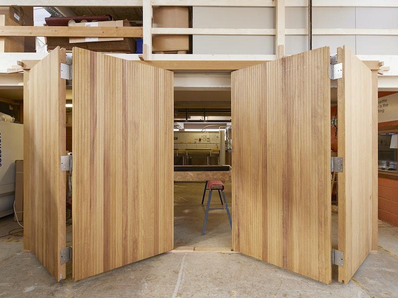 Bifold garage doors   Opening   Urban Front