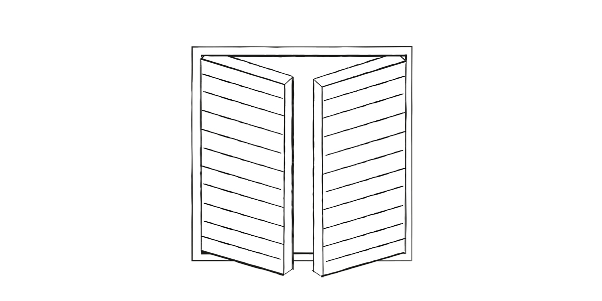 Side hinged garage door design | Urban Front