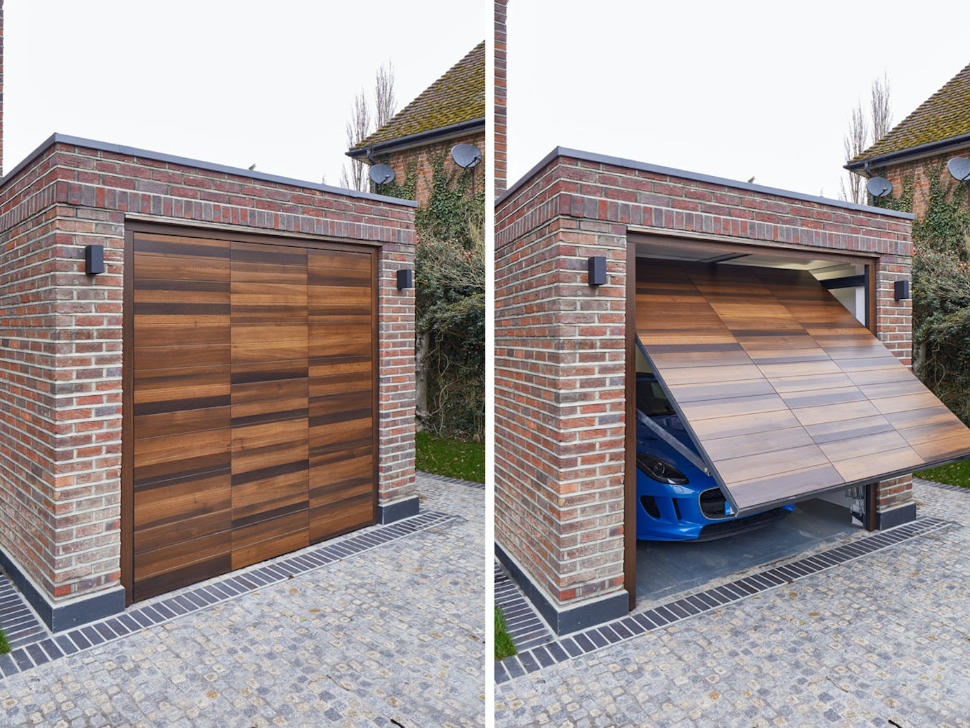 Up and over garage doors   Open & closed views   Urban Front