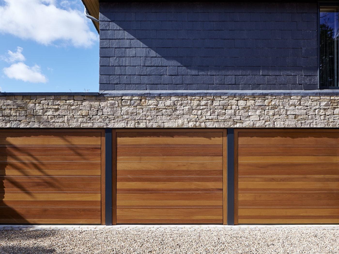 Up and over garage doors | Triple facing | Urban Front