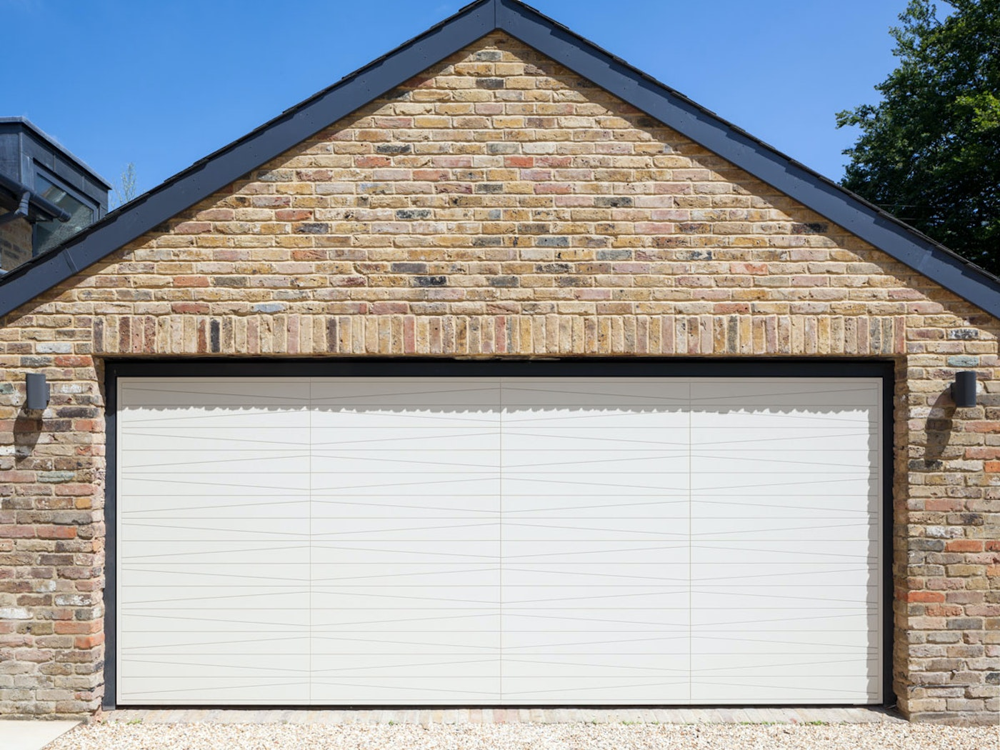 Up and over garage doors   White painted   Urban Front