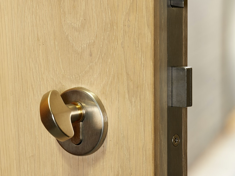 High security front doors lock