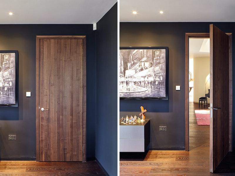 Raw internal door | American black walnut | Urban Front