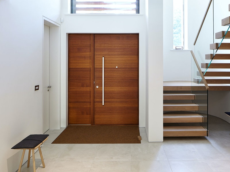 Large front doors interior | Iroko | Urban Front