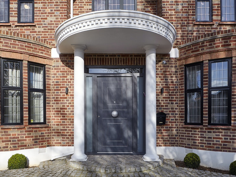 form front door painted grey