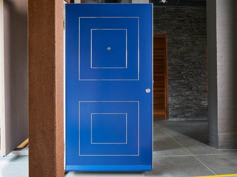 form front door painted blue