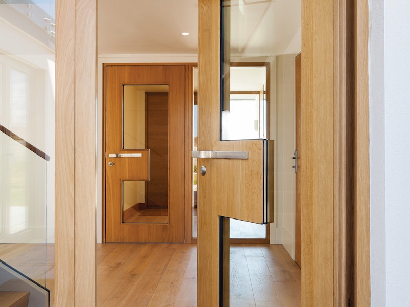 matching external and internal ice doors in oak