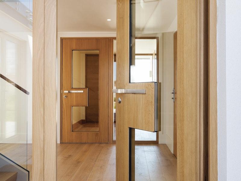 matching external and internal ice doors in oak