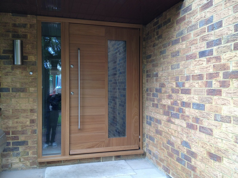 Manhattan front door | Iroko | Urban Front