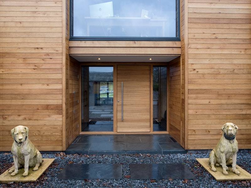 Oak wood | Sidelights (glass panels) | Milano front door