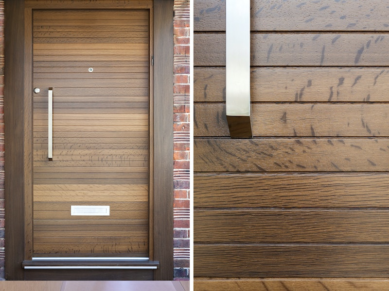 Neo front door | Fumed Oak | Option 10 handle