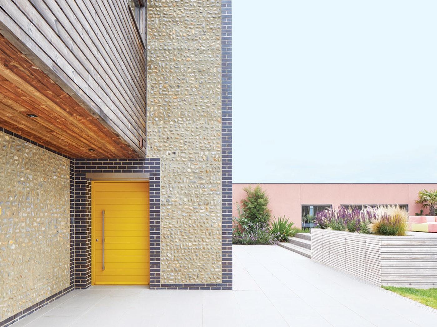 Yellow painted | Parma front door