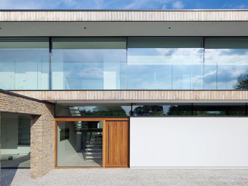 Oak wood | Sidelight & storeylight (glass panels) | Porto front door