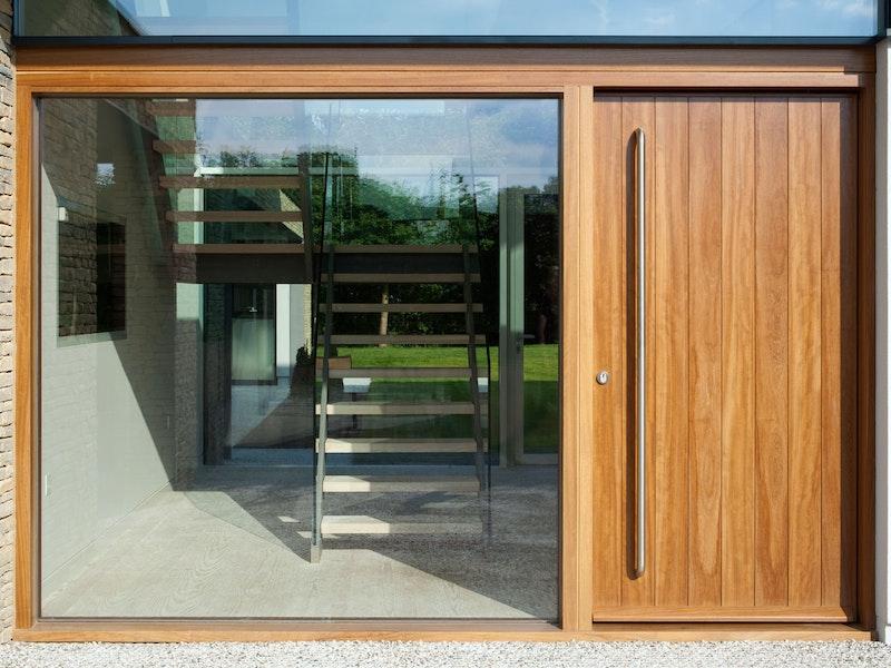 Oak wood | Sidelight (glass panel) | Porto front door