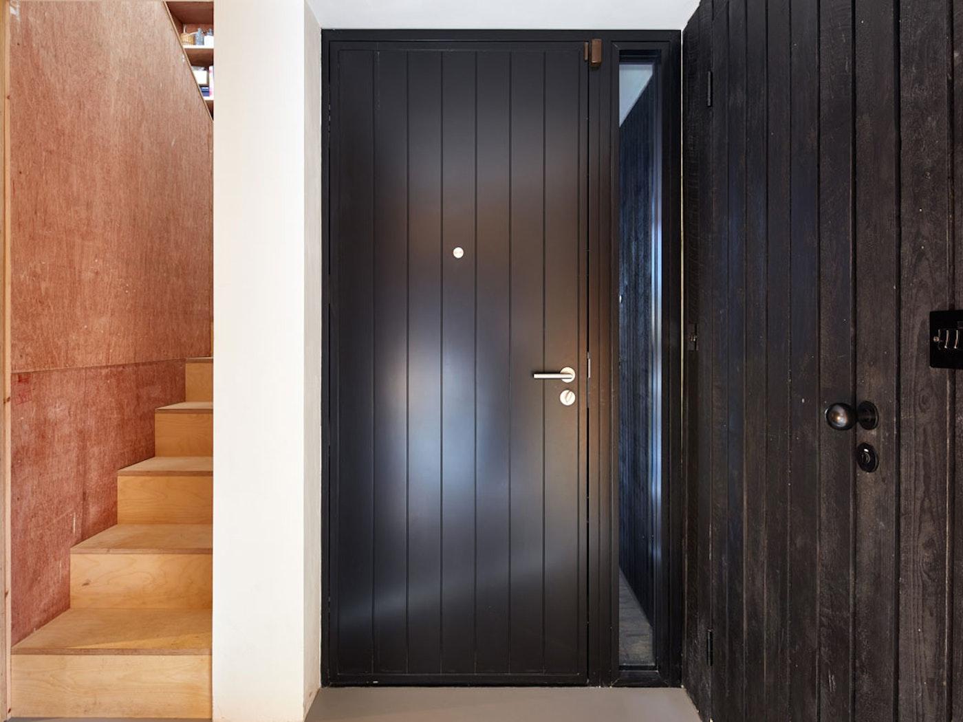 Black painted   Interior view   Porto front door