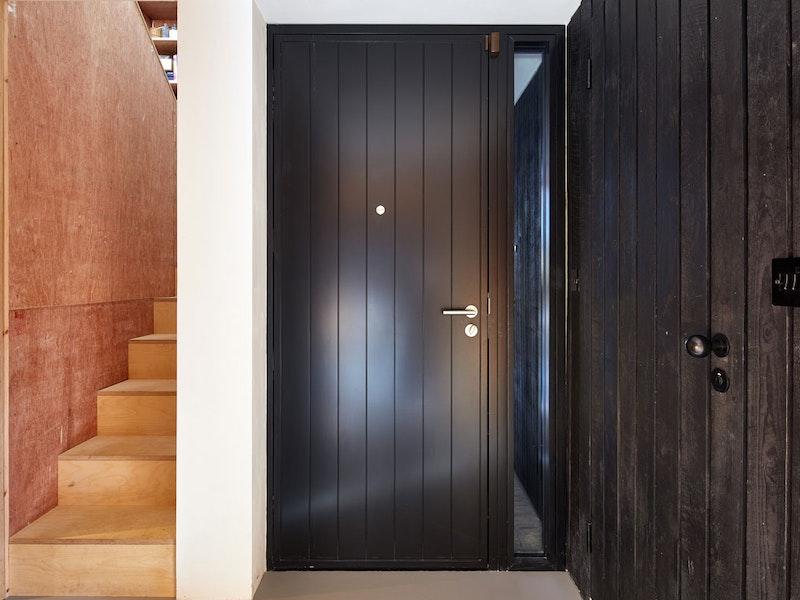Black painted | Interior view | Porto front door