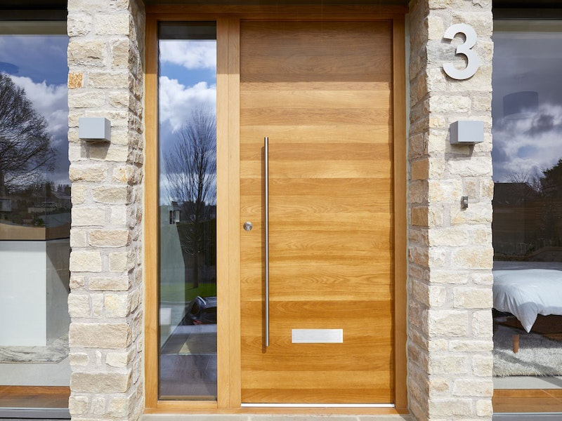 Raw front door | With side glass panel (sidelight) | Urban Front