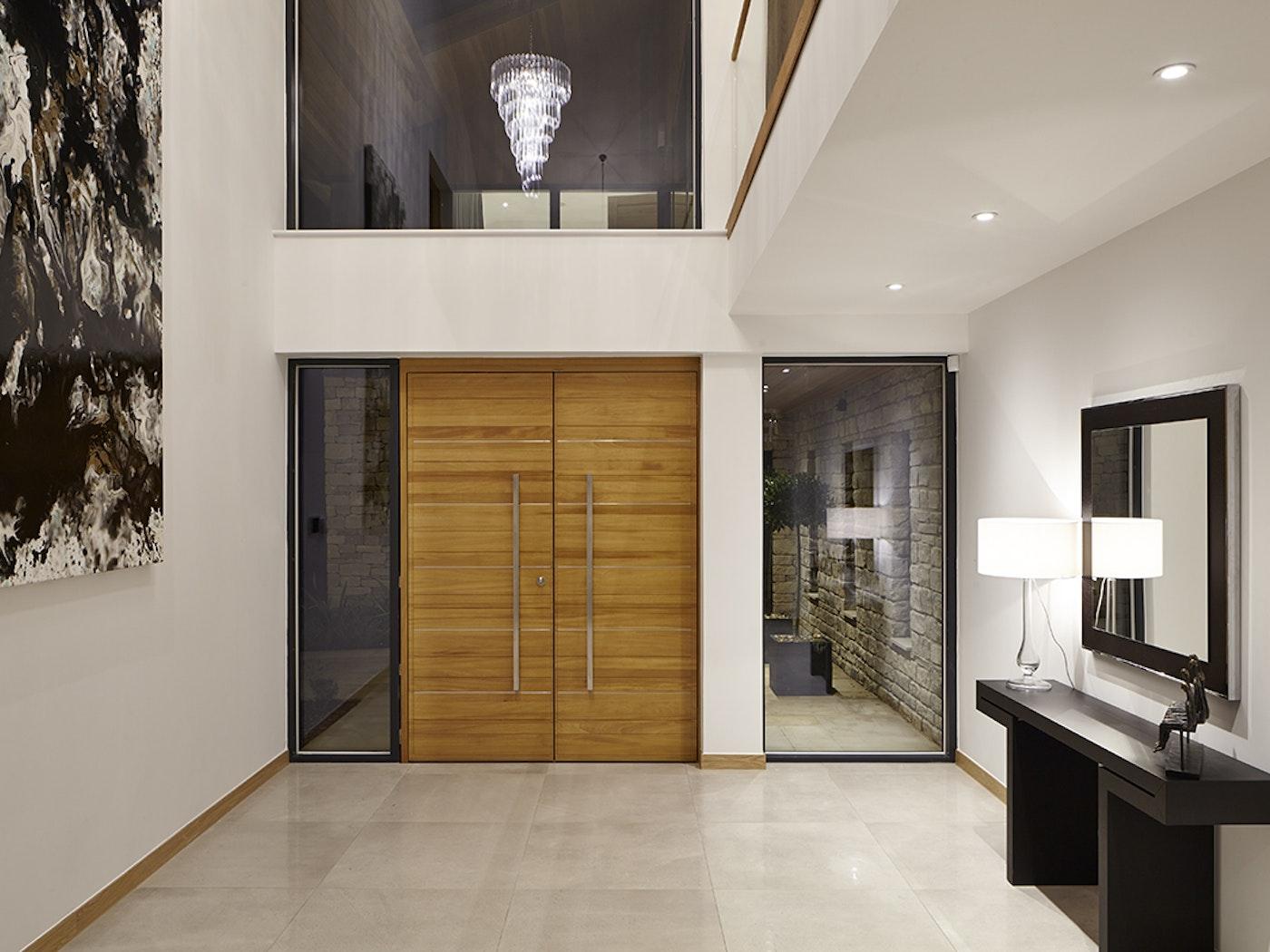 Rondo front door   Horizontal grooves, double doors   Urban Front