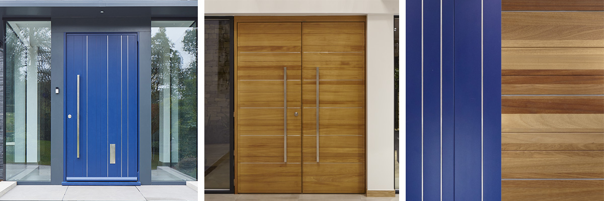 Rondo front door | Stainless steel detail | Urban Front