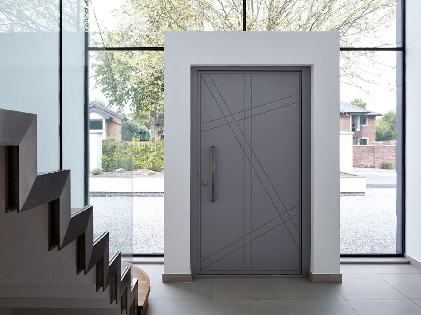 Grey painted | Interior | Root front door by Urban Front