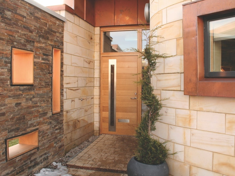 Sorrento front door | Western Red Cedar