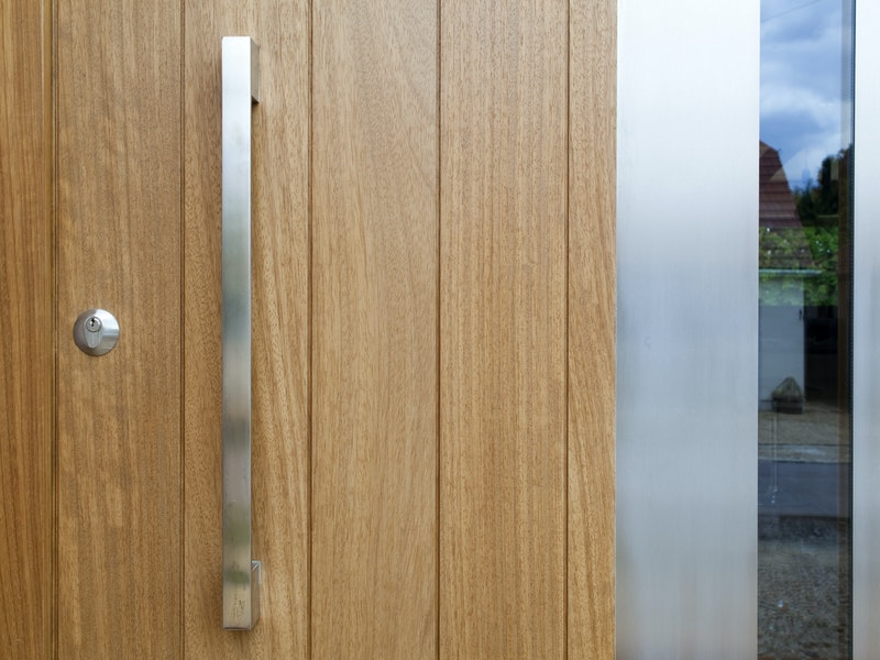 Sorrento Front Door | Vertical Grooves