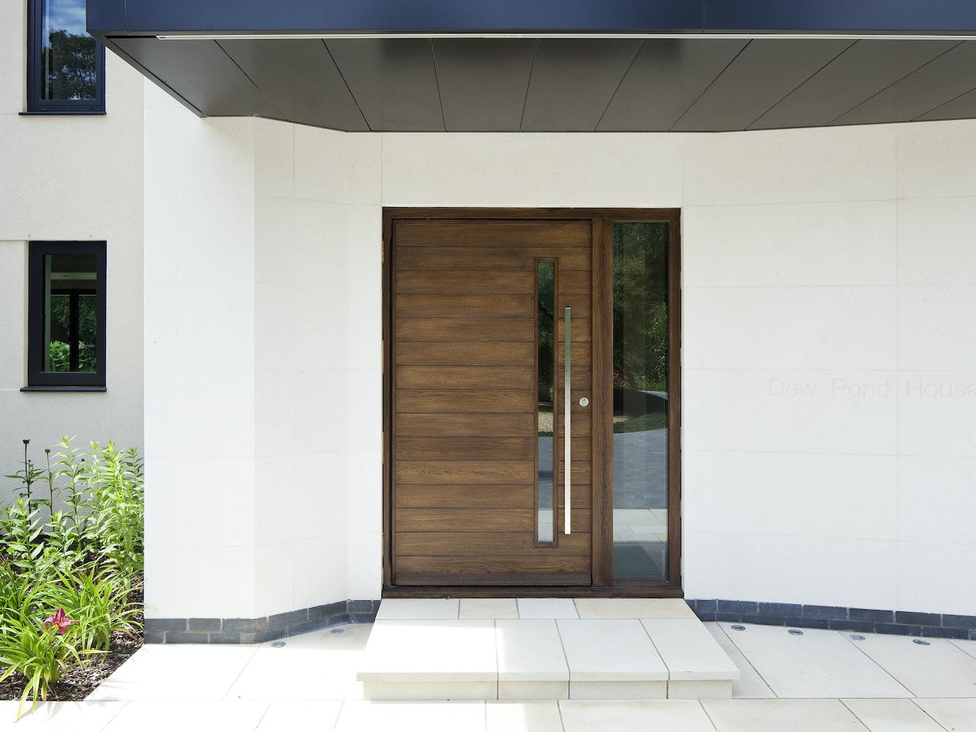 terano front door | iroko stained walnut | handle option 11