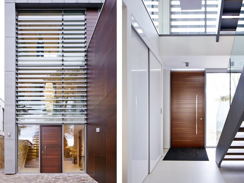 Oslo design front door with a parma design on the internal side