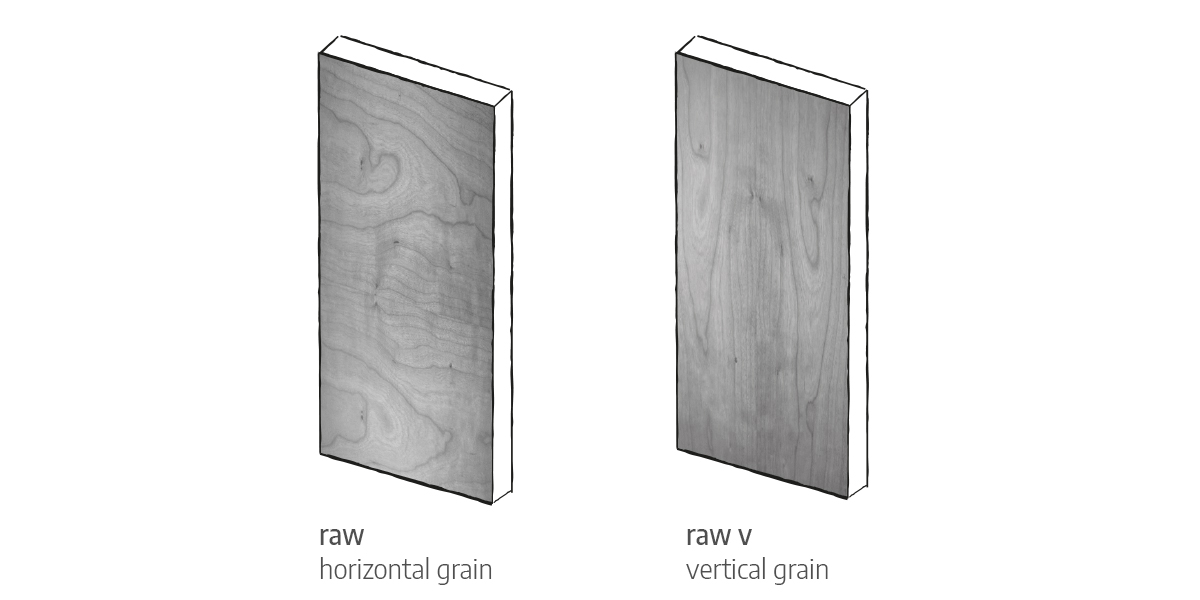 raw & raw V front door options Urban Front