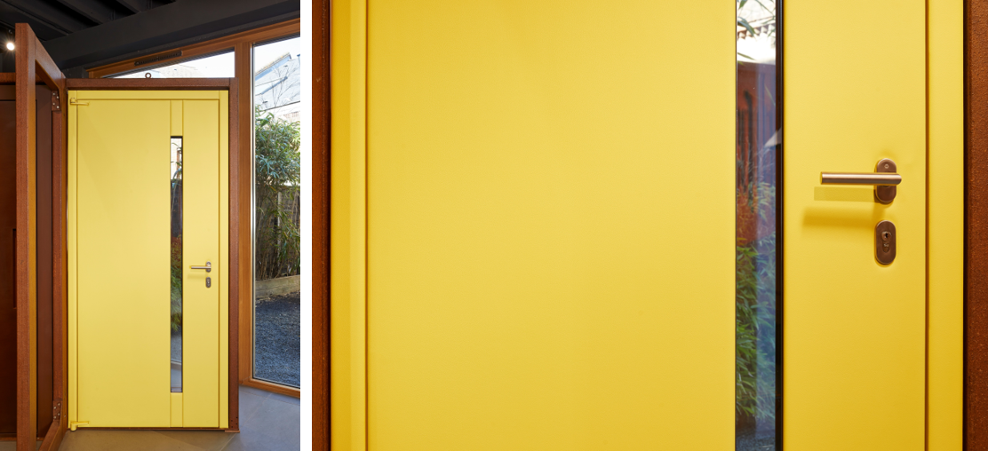 Yellow leather interior | Steel front doors | Urban Front