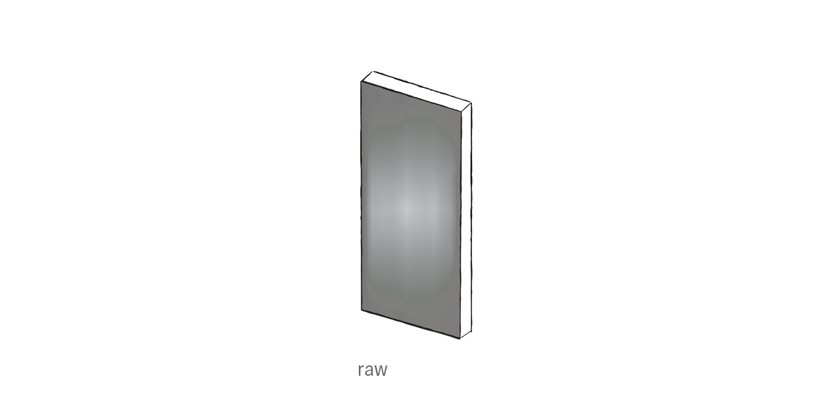 raw steel front door Urban Front