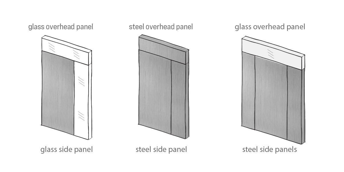 steel door configuration options
