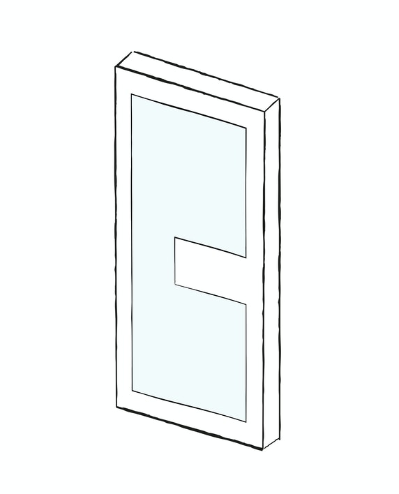 Contemporary internal doors - Ice | Urban Front