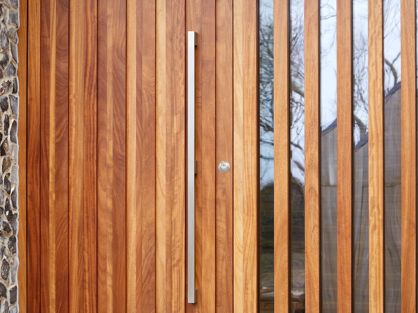 Our option 11 handle is a great match for this iroko door