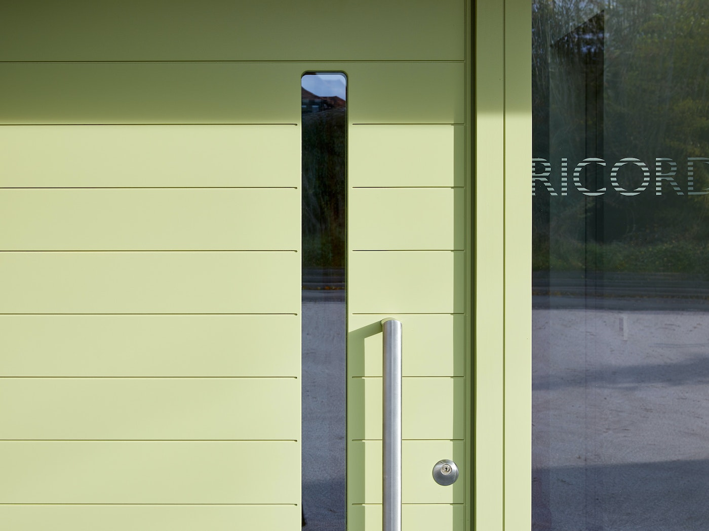 If you like the idea of glass panelling but are concerned about privacy, you can choose sandblasted glass instead