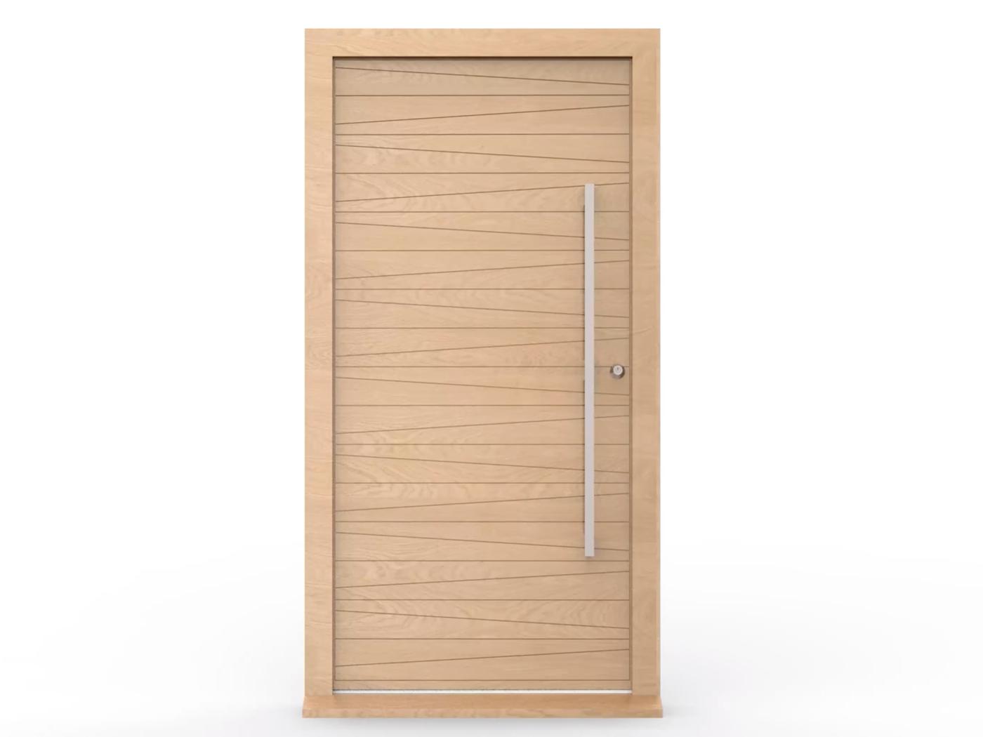 Hinged door opening