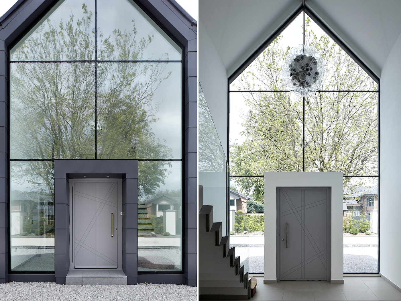 If it's a grand entrance you're after, this is the door setting you're looking for