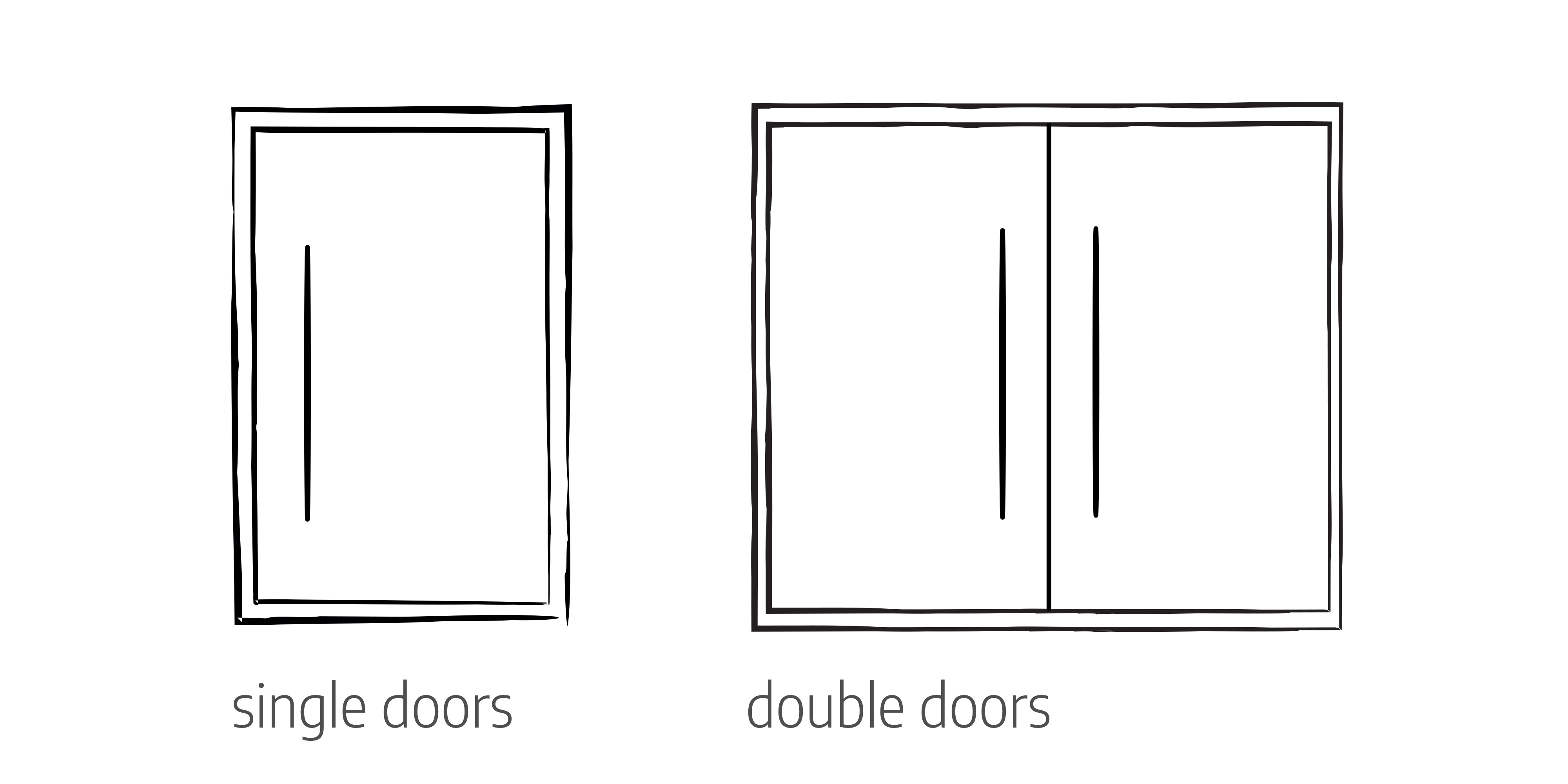 Single doors | Double doors | Door configurations - Urban Front