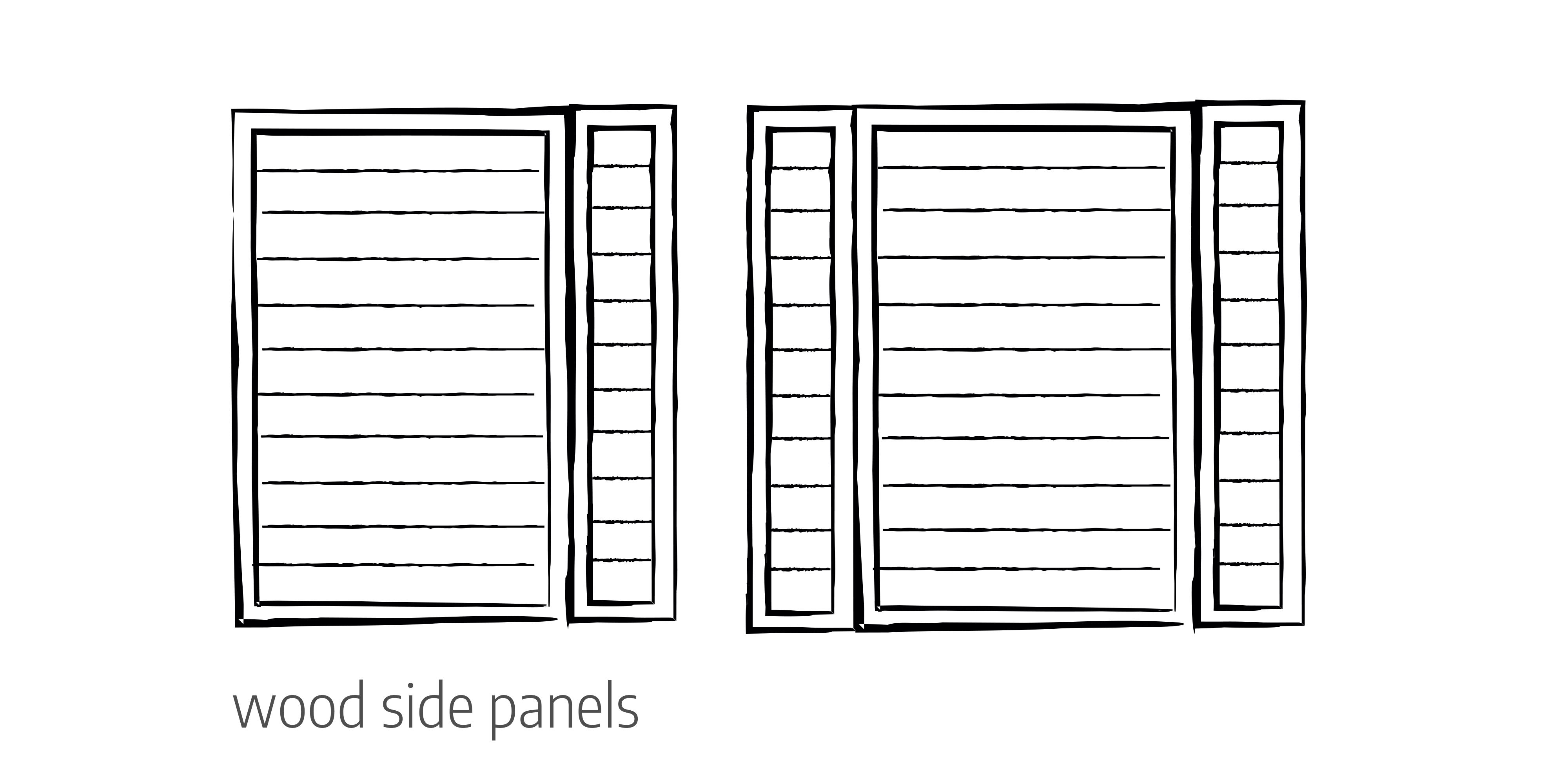 Wood side panels door configurations Urban Front