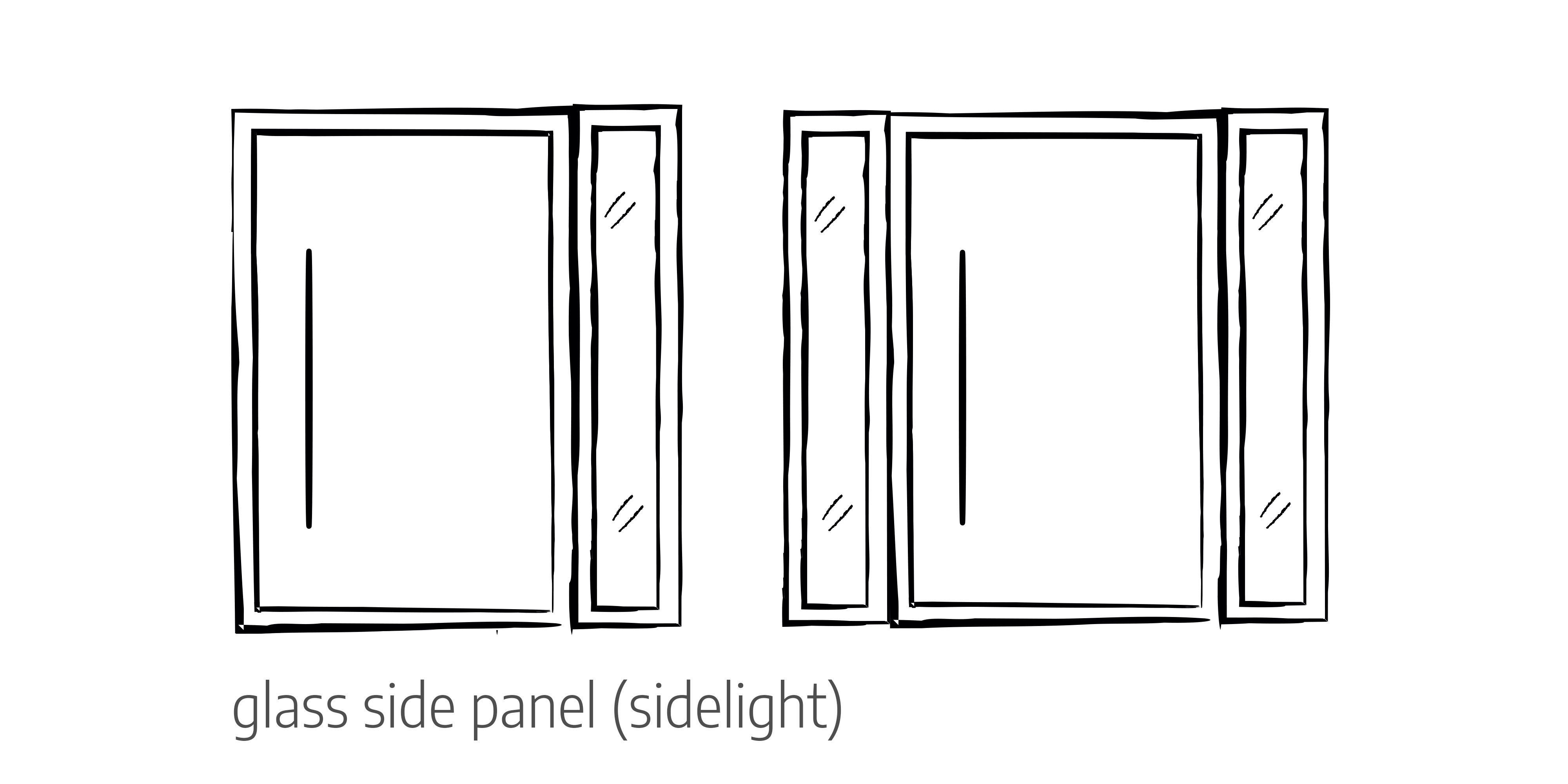 Glass side panels door configurations Urban Front