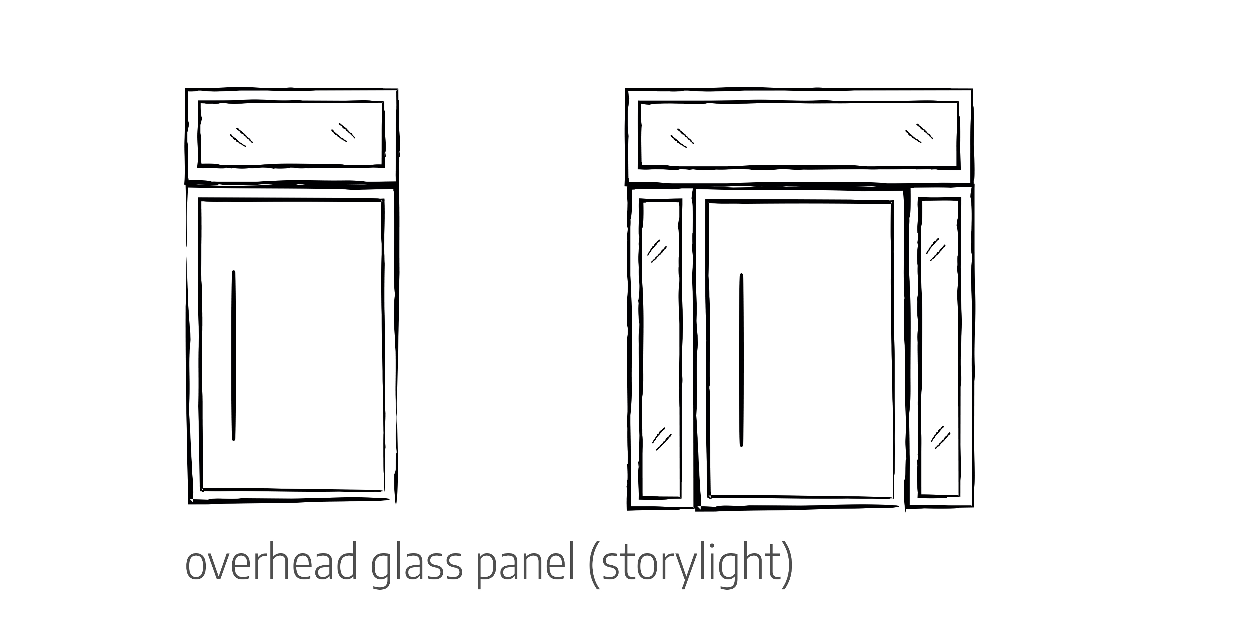 Overhead glass panel door configurations Urban Front