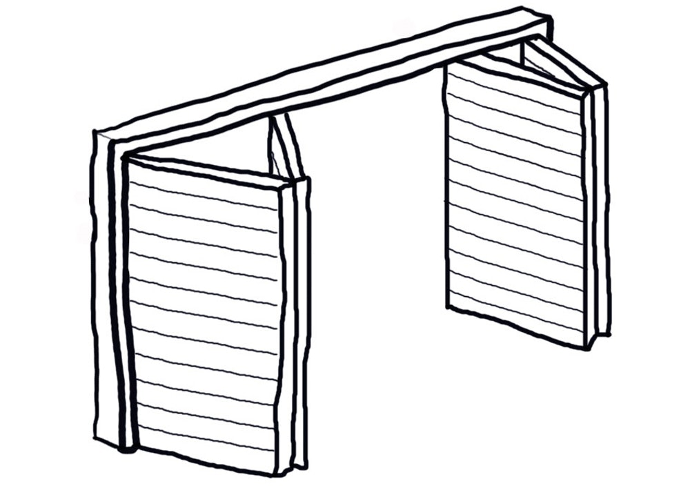 bifold garage door icon