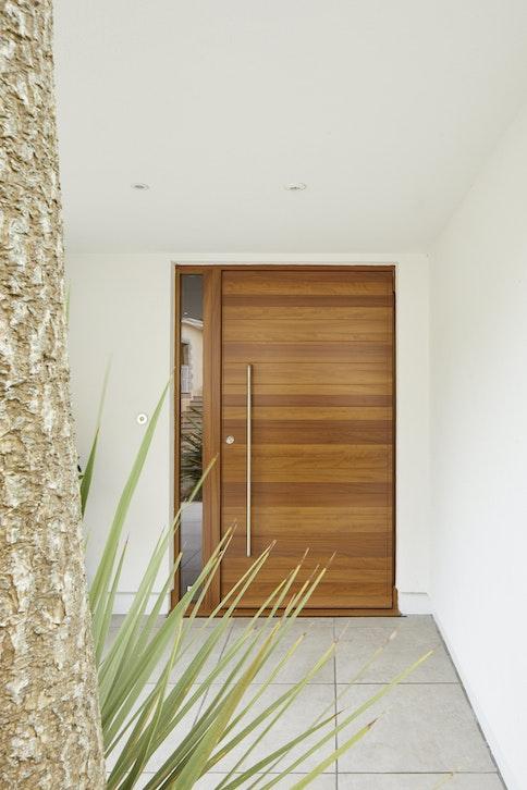 Parma front door in walnut